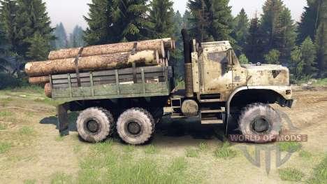 Oshkosh MTVR 6x6 para Spin Tires