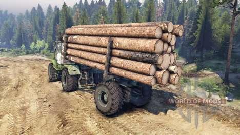 T-150K de madera para Spin Tires