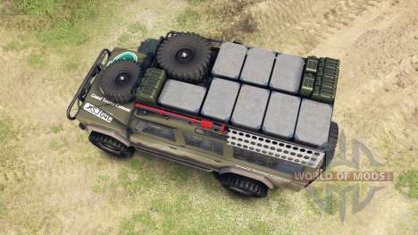 Land Rover Defender 110 para Spin Tires
