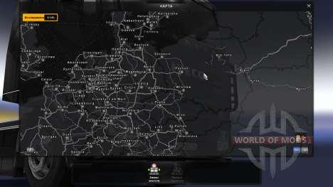 La asociación de la tarjeta: TSM y RusMap Espaci para Euro Truck Simulator 2