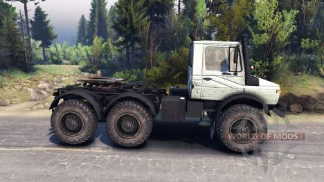 Mercedes-Benz Unimog U1500L 6х6 grey para Spin Tires