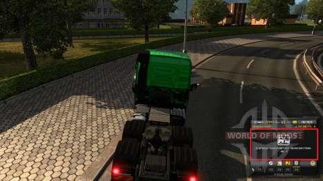 Mod en la experiencia y el dinero v1.2 para Euro Truck Simulator 2