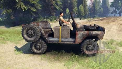UAZ-469 oxidado para Spin Tires