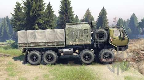 KrAZ-E Siberia para Spin Tires