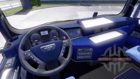 Interior azul, HOMBRE para Euro Truck Simulator 2