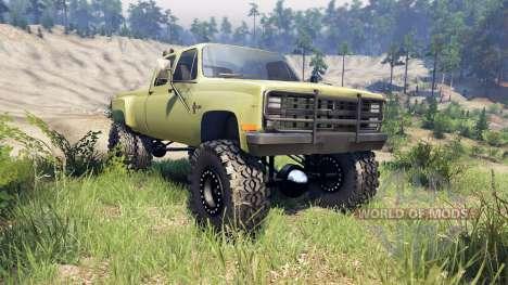 Chevrolet Silverado Dually Crew Cab v1.4 green para Spin Tires