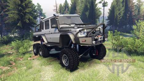 Mercedes-Benz G65 AMG 6x6 Final athlet silver para Spin Tires