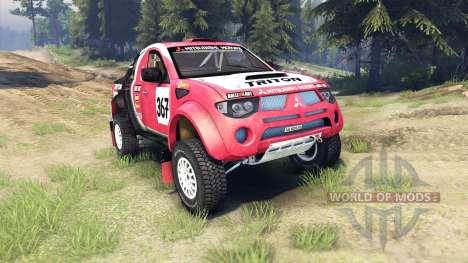 Mitsubishi L200 Triton para Spin Tires