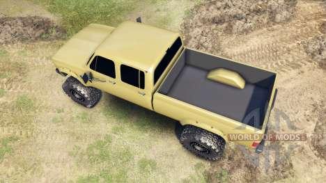 Chevrolet Silverado Cabina De La Tripulación De  para Spin Tires