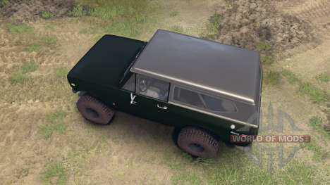 International Scout II 1977 dark green poly para Spin Tires