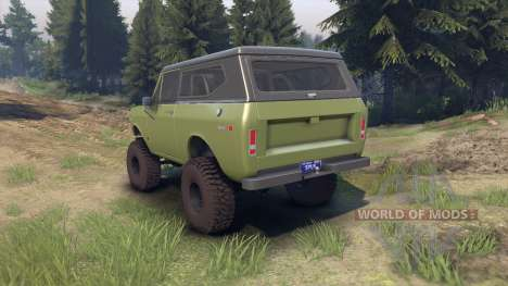 International Scout II 1977 grenoble green para Spin Tires