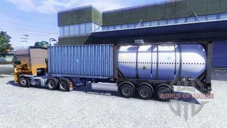 El contenedor semi-remolque para Euro Truck Simulator 2