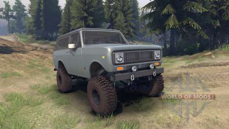 International Scout II 1977 agent silver para Spin Tires