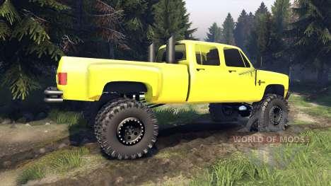 Chevrolet Silverado Dually Crew Cab v1.4 yellow para Spin Tires