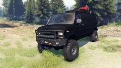 Ford E-350 Econoline 1990 v1.1 flat black