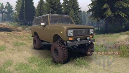 International Scout II 1977 drab green para Spin Tires