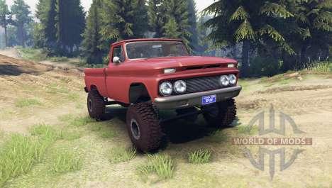 Chevrolet С-10 1966 Personalizado azteca de bron para Spin Tires