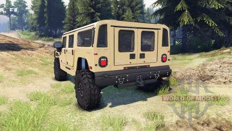 Hummer H1 tan para Spin Tires