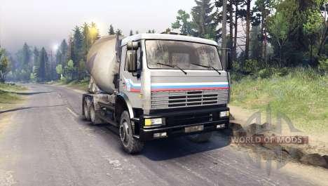 KamAZ-6520 para Spin Tires