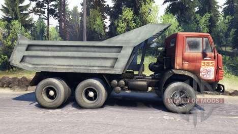KamAZ-5511 blanco de celosía para Spin Tires