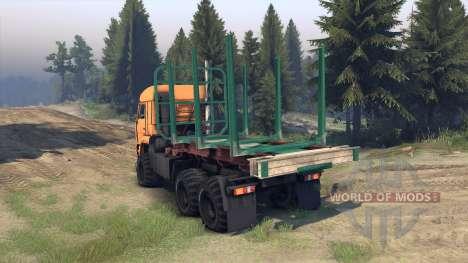 KamAZ-65115 para Spin Tires