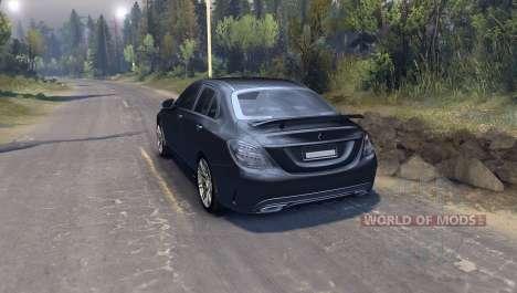 Mercedes Benz C250 Brabus para Spin Tires