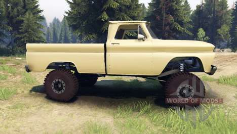 Chevrolet С-10 1966 Personalizado sándalo tan para Spin Tires
