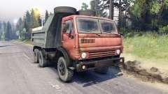 KamAZ-5511 rojo de la parrilla