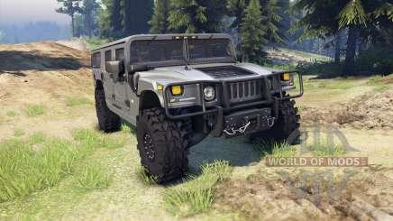 Hummer H1 gray para Spin Tires