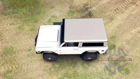 Ford Bronco 1966 [white] para Spin Tires
