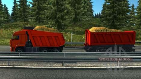 El tándem de KAMAZ para Euro Truck Simulator 2