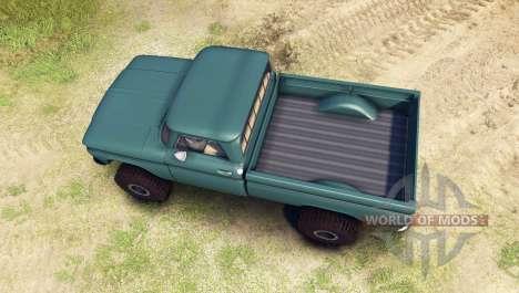 Chevrolet С-10 1966 Personalizado trópico de col para Spin Tires