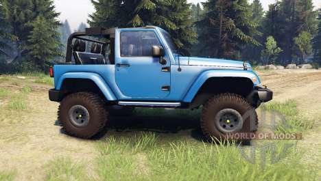 Jeep Wrangler blue para Spin Tires