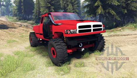 Dodge Ram 1500 [chopped] para Spin Tires