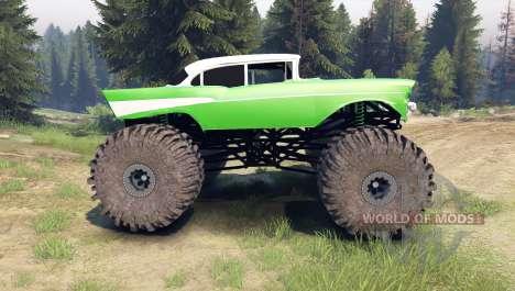 Chevrolet Bel Air 1955 Monster green para Spin Tires
