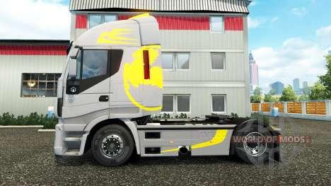 La piel Hi Manera Amarillo Gris en el camión Ive para Euro Truck Simulator 2