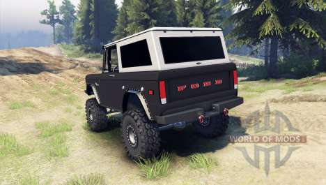 Ford Bronco 1966 [black] para Spin Tires