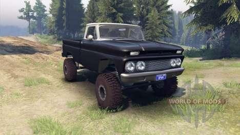 Chevrolet С-10 1966 Personalizado de dos tonos n para Spin Tires