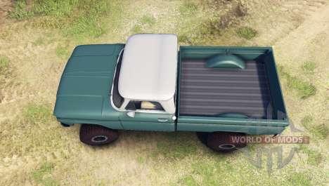 Chevrolet С-10 1966 Personalizado de dos tonos t para Spin Tires