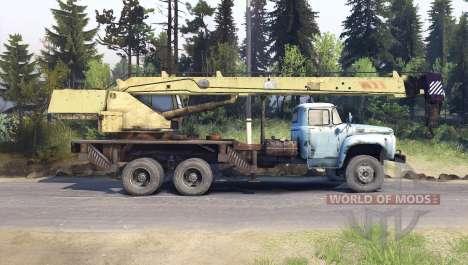 ZIL-133 camión grúa GA para Spin Tires
