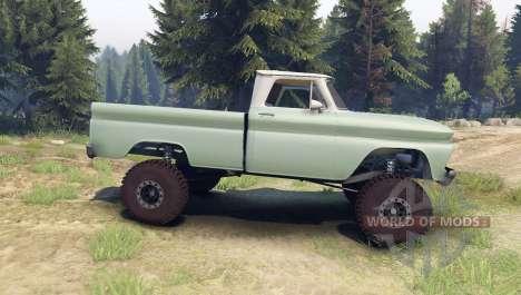 Chevrolet С-10 1966 Personalizado de dos tonos d para Spin Tires