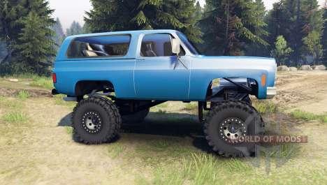 Chevrolet K5 Blazer 1975 [final] [blue] para Spin Tires