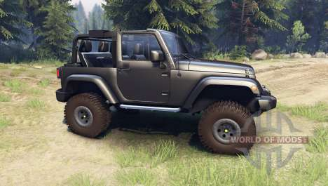 Jeep Wrangler black para Spin Tires