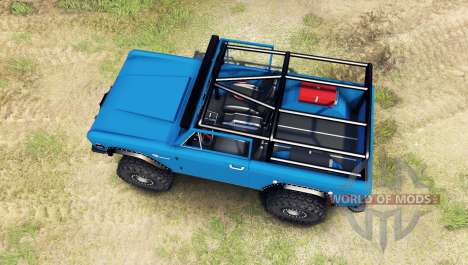 Ford Bronco 1966 [blue] para Spin Tires