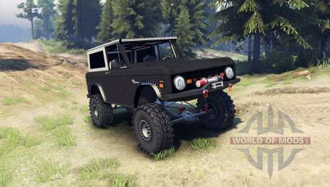 Ford Bronco 1966 [black] para Spin Tires