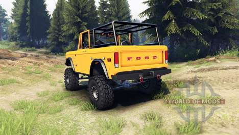 Ford Bronco 1966 [orange] para Spin Tires