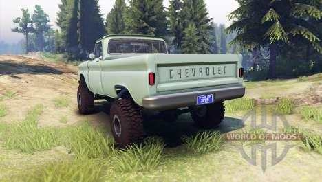 Chevrolet С-10 1966 Personalizado de sauce verde para Spin Tires