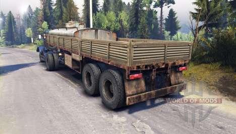 Kraz-258 4x2 para Spin Tires