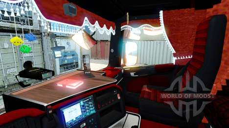 Interior rojo Scania para Euro Truck Simulator 2