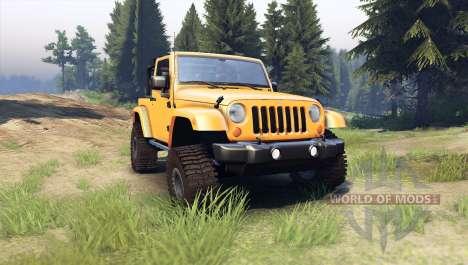 Jeep Wrangler orange para Spin Tires